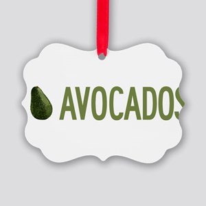 I-Love-Avocados Picture Ornament