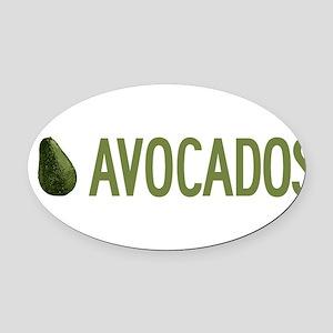 I-Love-Avocados Oval Car Magnet