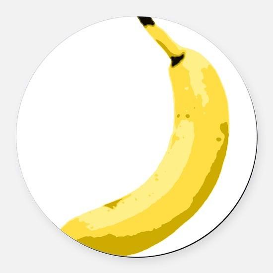 banana_up.gif Round Car Magnet