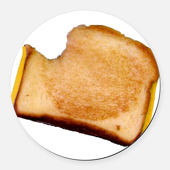 bl_grilledcheese.png Round Car Magnet