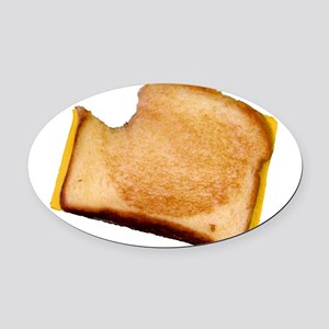bl_grilledcheese Oval Car Magnet