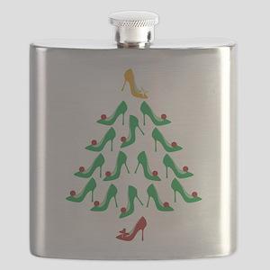 High Heel Shoe Holiday Tree Flask