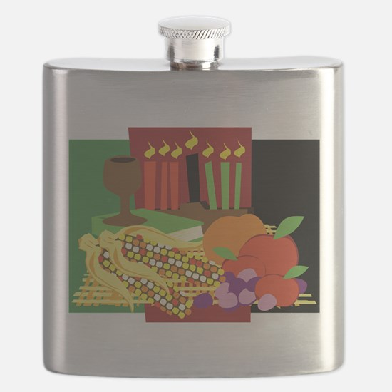 Kwanzaa Design Flask