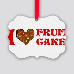 i-love-fruitcake Picture Ornament