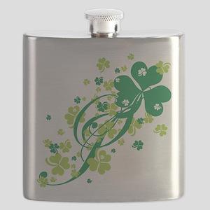 SHAMROCK-SWIRL Flask