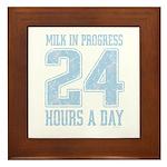 Milk In Progress Blue Framed Tile