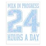 Milk In Progress Blue Small Poster