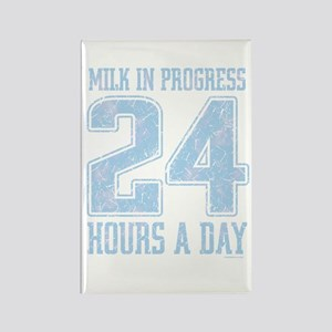 Milk In Progress Blue Rectangle Magnet