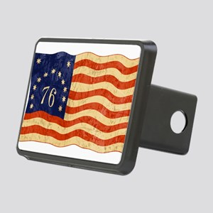 76-FLAG-WORN Rectangular Hitch Cover