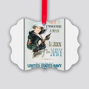 gee-wish-man_tee Picture Ornament