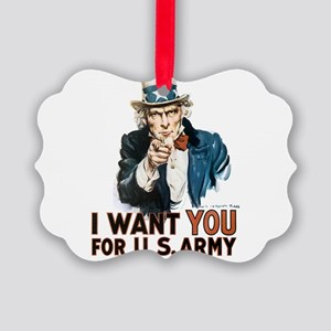 i-want-you_tee Picture Ornament