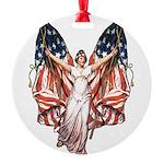 vintage-flag-bearer.png Round Ornament