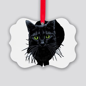 black-kitty Picture Ornament