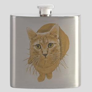 orange-kitty Flask