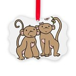 monkey-couple.png Picture Ornament