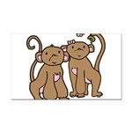 monkey-couple.png Rectangle Car Magnet