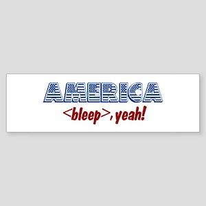America, Bleep Yeah! Bumper Sticker