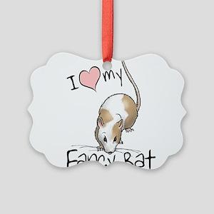 fancy-rat-new Picture Ornament