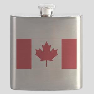 Canadian Flag Flask