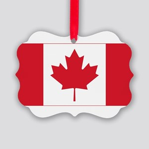 Canadian Flag Picture Ornament