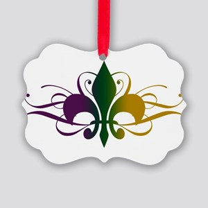 fleur-de-lis-swirls_color Picture Ornament