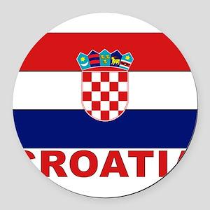 croatia_b Round Car Magnet