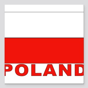 "poland_b Square Car Magnet 3"" x 3"""