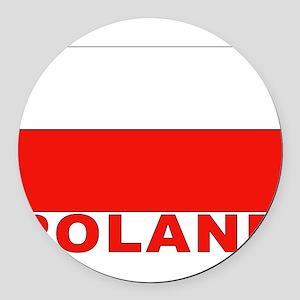 poland_b Round Car Magnet