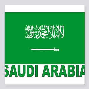 "saudi-arabia_b Square Car Magnet 3"" x 3"""