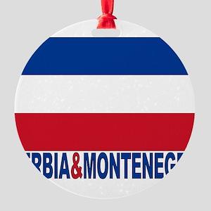 serbia-and-montenegro_b Round Ornament