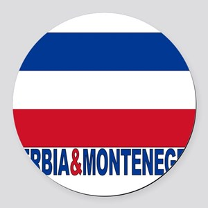 serbia-and-montenegro_b Round Car Magnet