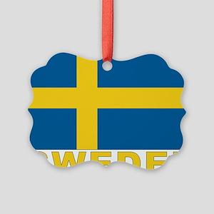 sweden_b Picture Ornament