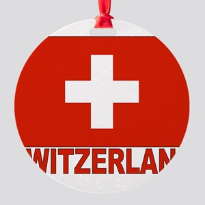 swiss-flag Round Ornament