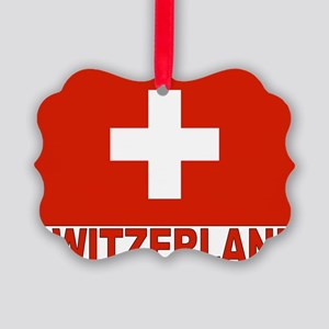 swiss-flag Picture Ornament
