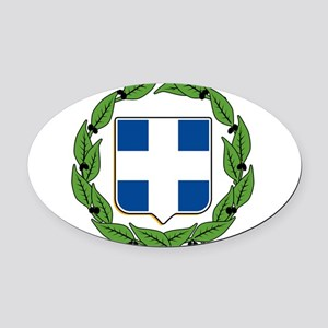 greek-crest.png Oval Car Magnet