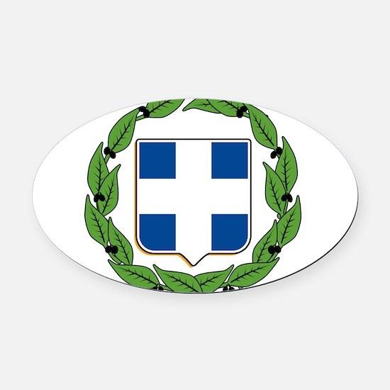 greek-crest.png Oval Car Magnet
