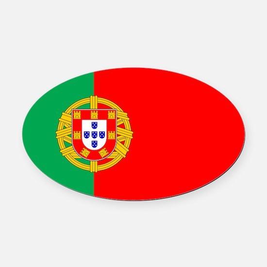 portuguese_flag.gif Oval Car Magnet