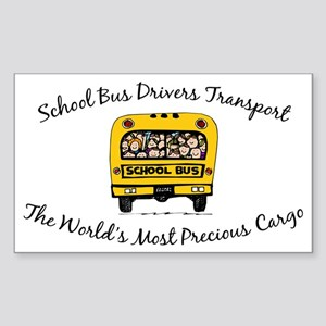 School Bus Drivers Rectangle Sticker