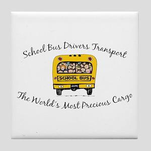 School Bus Drivers Tile Coaster