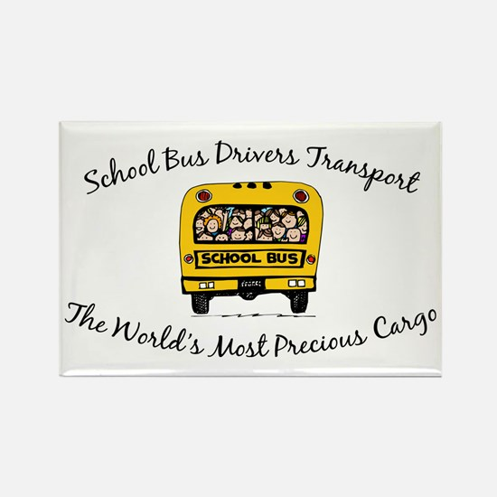 School Bus Drivers Rectangle Magnet