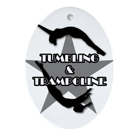 Tumbling and trampoline Ornament (Oval)