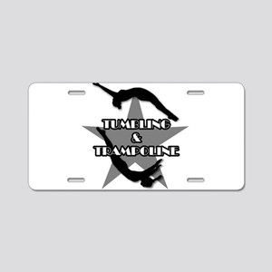 Tumbling and trampoline Aluminum License Plate