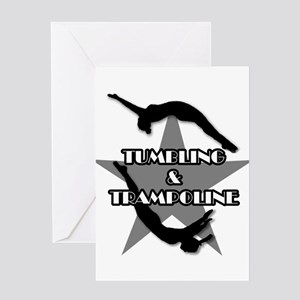 Tumbling and trampoline Greeting Card