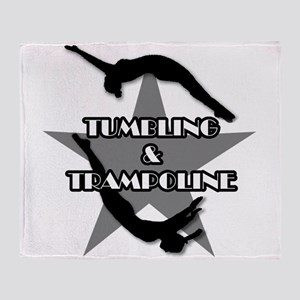Tumbling and trampoline Throw Blanket