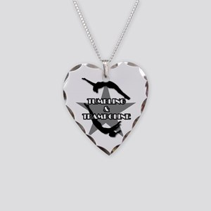 Tumbling and trampoline Necklace Heart Charm
