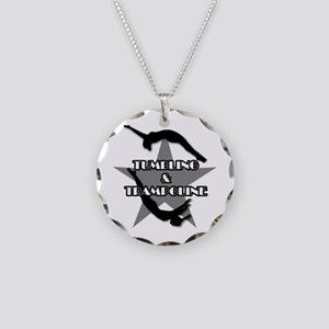 Tumbling and trampoline Necklace Circle Charm