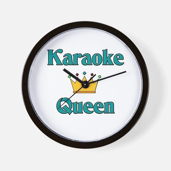 Karaoke Queen Wall Clock