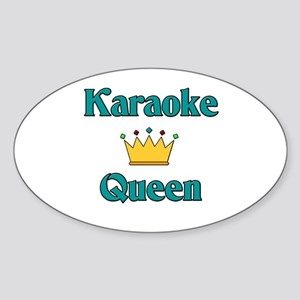 Karaoke Queen Oval Sticker