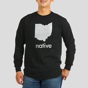 OHnative Long Sleeve Dark T-Shirt