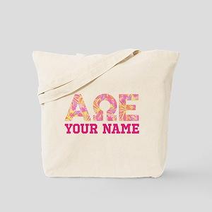 Alpha Omega Epsilon Pink Yellow Personali Tote Bag